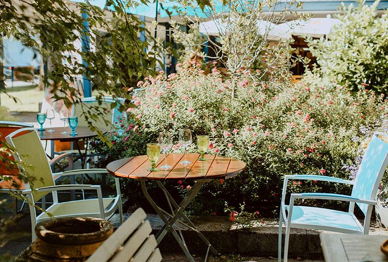 Champor Restaurant Garten