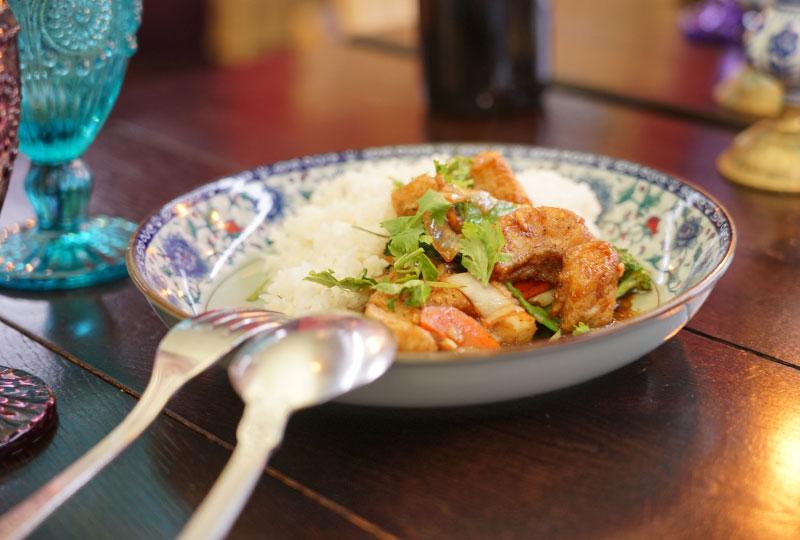 Asiatisches, gesundes Mittagessen